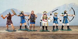 VTG Lot Marx Warriors of the World Vikings 60mm Figures Soldiers Set of 6