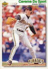 467 JOHN SMILEY PITTSBURGH PIRATES BASEBALL CARD UPPER DECK 1992