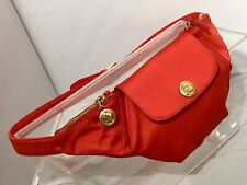 GIANI VERSACE VERSUS Belt PACK BAG Fanny Pack Red Satin Gold Panther 🐆Small EUC