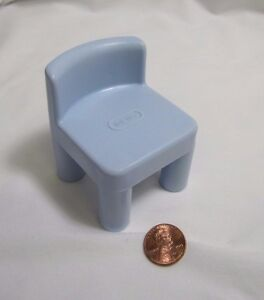 LITTLE TIKES Dollhouse-Sized BLUE CHAIR for KITCHEN TABLE for 4-6 INCH DOLL