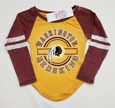 NWT Washington Redskins NFL Team Apparel Youth Girls LS Tee Shirt  b15bd604d