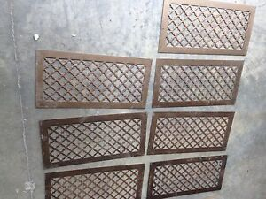 7 Available Antique Steel Gothic Pattern Heating Greats