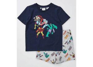 Marvel Avengers Boys Kids Summer Pyjamas New with Tags various sizes