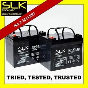 2 x 12v 12 24 33 36 40 50 55 75AH MOBILITY SCOOTER WHEELCHAIR BATTERIES