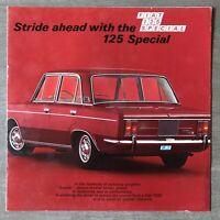 Fiat 125 Special original Australian sales brochure. 2768