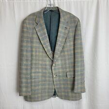 Vintage Mid-Century Leisure Sport Coat Plaid Jacket