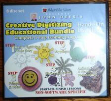 ADORABLE IDEAS JOHN DEER'S Creative Digitizing 5 STEP DVD SET  EDUCATION SET
