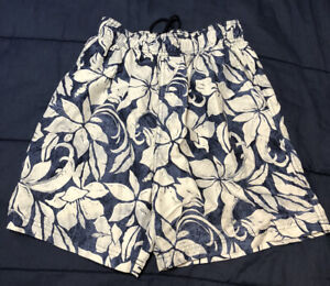 OP Mens Swim Trunks Shorts - Pockets - Mesh Lined - Blue, White - Size S (28-30)