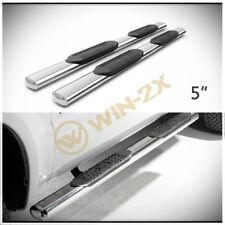 """2pcs 5"""" S/S Side Step Nerf Bars Fit 15-18 F150 17-18 F250/F350 SD Super/EXT Cab"""