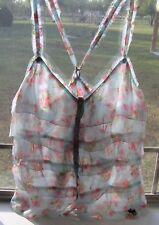 Abercrombie A&F Womens S Breezy Summer Shirt NWT Sleeveless Berries Was $48