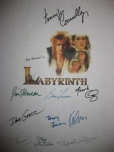 Labyrinth Signed Script x10 Jennifer Connelly Jim Hensen Frank Oz Goelz reprint