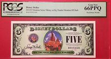 2014D $5 Big Thunder Mountain Disney Dollar,  Graded Gem New 66PPQ, D005468