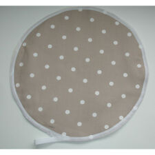 NEW Aga Range Hob Hat Lid Mat Cover Topper Cook Chef Pad Taupe Brown Polka Dots