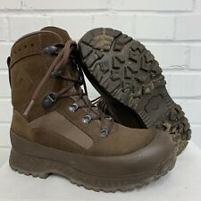 HAIX BROWN SUEDE DESERT HIGH LIABILITY COMBAT BOOTS  - 7 Wide , British Army