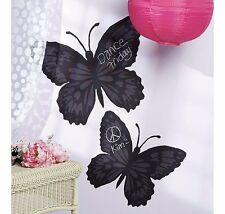 Wallies Butterfly Chalkboard Peel and Stick Wall Decals - Chalk Included