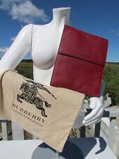 NEW BURBERRY iPad London leather case cover Italy $350 cherry red tablet sleeve