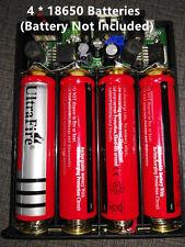 5V/ 12V/ 8-24V Output Power Bank Phone Charger 4*18650 DIY Case Kit Car Starter