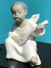 Mint Lladro Black Angel Figurine 01004537