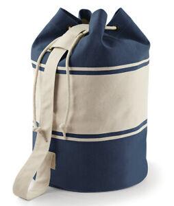 Canvas Duffle Bag Mens Womens Drawstring Sailor Style Kit Bag Gym Rucksack