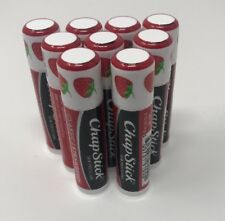 Lot of 9 Strawberry ChapStick Lip Balm - Brand New! 0.15oz
