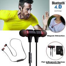 Bluetooth Wireless 4.1 Headset Handsfree Earphones Headphones Sports Gym