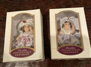New DG Creations Porcelain Collectible Ornament Poseable Dolls 2001