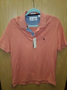 NEW Original Penguin Men's Polo Shirt Spiced Coral Short Sleeve Size M $55 NWT