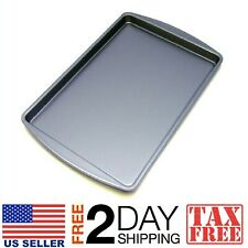 Large Cookie Sheet Pan Oven Baking Cake Non Stick Bakeware Easy Clean Tray