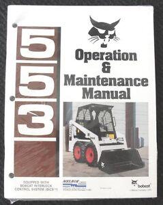 ORIGINAL BOBCAT 553 BICS SKID STEER LOADER TRACTOR OPERATORS MANUAL MINT SEALED