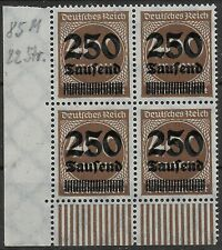 MiNr. 294 im Viererblock vom Walzenunterrand aus Ecke 3 postfrisch