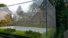 1:18 Diorama Acrylique Vitrine route grise mur de briques également pour 1:24 Modèles
