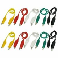 10 Pcs Crocodile Clips Cable Double-ended Alligator Jumper Test Leads Wire 50 CM