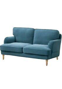 NEW IKEA STOCKSUND Loveseat Cover Slipcover Ljungen Blue Velvet  103.197.43 NIB