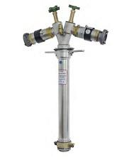 Trinkwasser Standrohr DN80 2x Systemtrenner BA 2x Storz C Edelstahl Messing