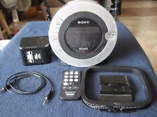 SONY Dream Machine CD Player Alarm Clock Radio iPod Dock FM/AM Radio ICF-CD3iP