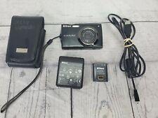 Nikon Coolpix S4000 Black 12MP Digital Camera Touch Screen
