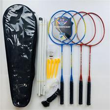 4-Player Adult/Teenager Badminton Racket With Net Outdoor Set