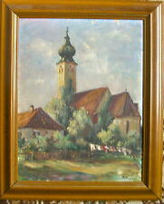 Impressionista (a) . Wagner Dipinto a Olio Chiesa Märchenwolle circa 1920