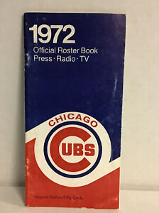 1972 Chicago Cubs Official Press, Media Book Mlb (mears)