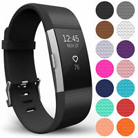 For Fitbit Charge 2 Strap Replacement Silicone Wristband Band Watch Wrist Straps