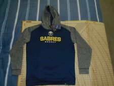 MENS XLARGE BLUE/GRAY FANATICS BUFFALO SABERS PULL OVER HOODIE - NWT