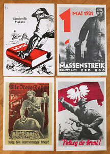 1976 Sandor Ek Communist Propaganda War Poster set of 8 with Folio