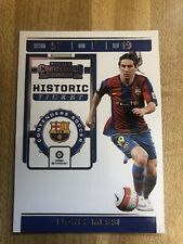 2019-20 Panini Chronicles Lionel Messi Contenders Historic Ticket Barcelona