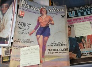 physical culture-1930s health-muscle magazine-rare