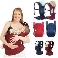 Breathable Cotton Baby Carrier Infant Comfort Backpack Buckle Sling Wrap