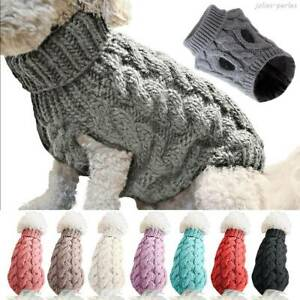 Fashion Puppy Dog Jumper Winter Warm Knitted Sweater Pet Clothes Puppy Cat Coat'