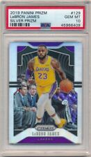 LEBRON JAMES 2019/20 PANINI PRIZM #129 SILVER PRIZMS LAKERS SP PSA 10 GEM MINT