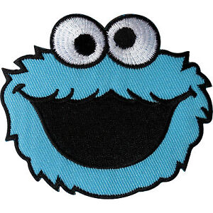 Sesame Street Cookie Monster Patch Embroidered Iron On / Sew On Clothes Badge
