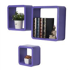 Wandregal 3er Set Regal Bücherregal Hängeregal Cubes Lounge Büroregale #295