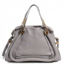 100% Authentic Chloe Paraty Shoulder Bag Medium, Gray - Tag $2,200